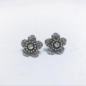 Betsey Johnson - Silver Blossom Earrings